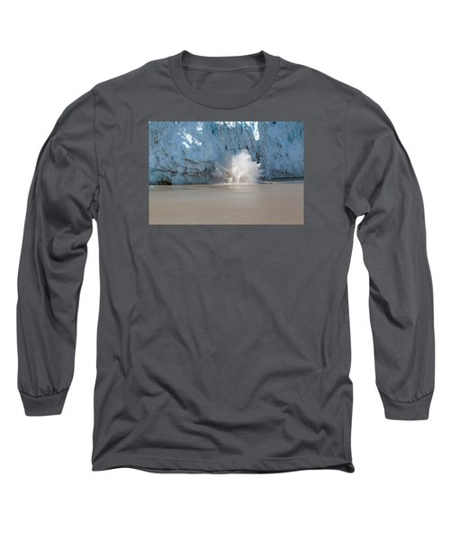 Glacier Calves Long Sleeve T-Shirt by Allan Levin