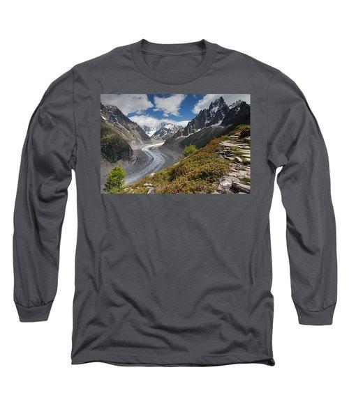 Glacier De La Mer De Glace Long Sleeve T-Shirt
