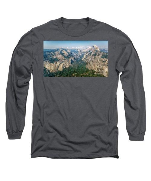 Glacier Point Yosemite Np Long Sleeve T-Shirt by Daniel Heine