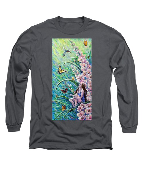 Glad To Be Here Long Sleeve T-Shirt by Gail Butler