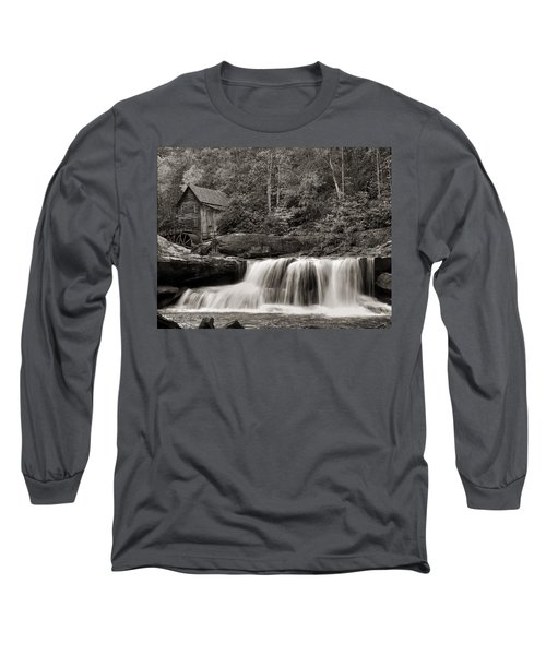 Glade Creek Grist Mill Monochrome Long Sleeve T-Shirt by Chris Flees