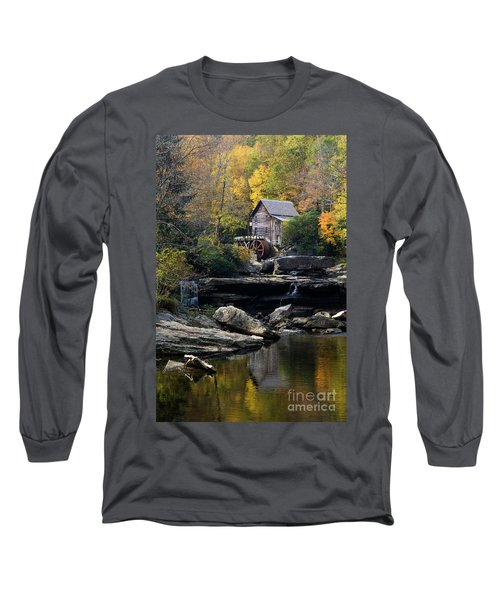 Long Sleeve T-Shirt featuring the photograph Glade Creek Grist Mill - D009975 by Daniel Dempster