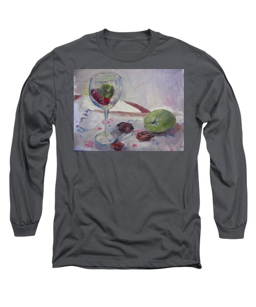 Glass And Fruit Long Sleeve T-Shirt