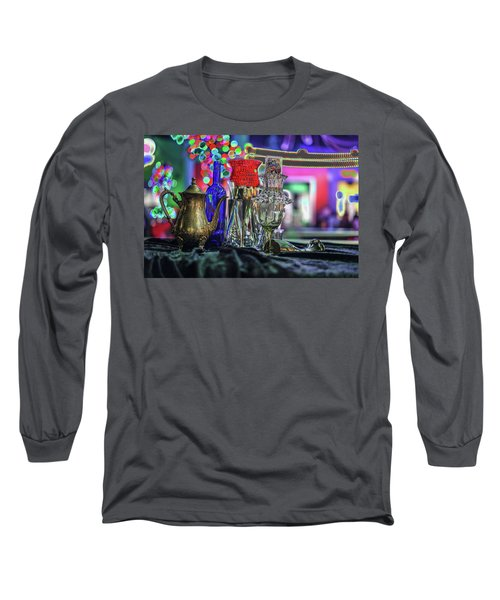 Glass In The Frame Of Colorful Hearts Long Sleeve T-Shirt