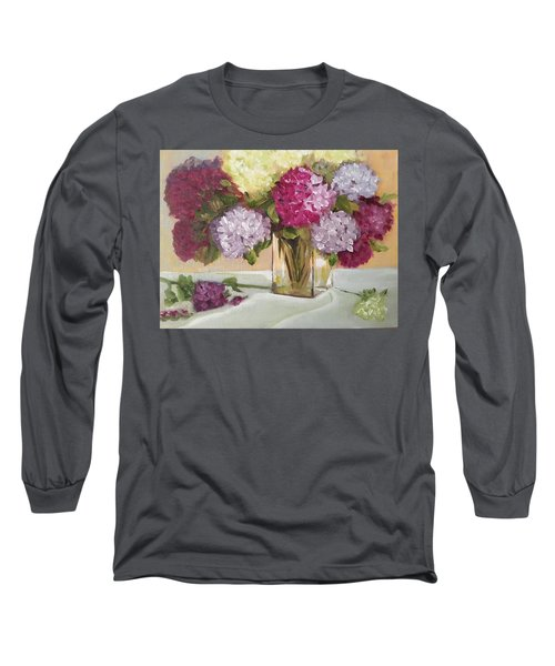 Glass Vase Long Sleeve T-Shirt by Sharon Schultz