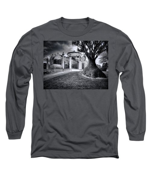 Glasshouse And Tree Long Sleeve T-Shirt