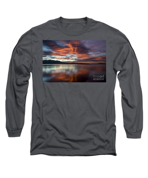 Glassy Tahoe Long Sleeve T-Shirt by Mitch Shindelbower