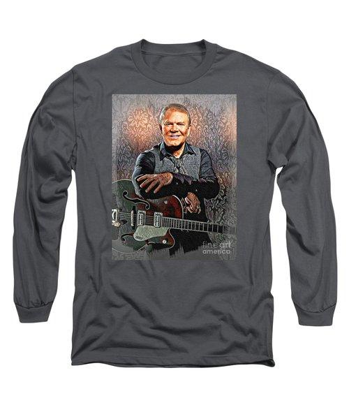 Glen Campbell - Singing Icon Long Sleeve T-Shirt