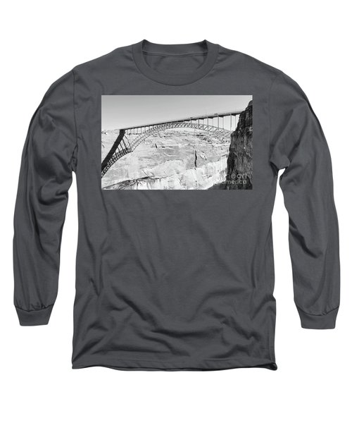 Glen Canyon Bridge Bw Long Sleeve T-Shirt