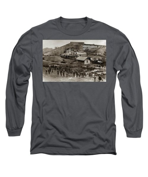 Glen Lyon Pa Susquehanna Coal Co Breaker Late 1800s Long Sleeve T-Shirt