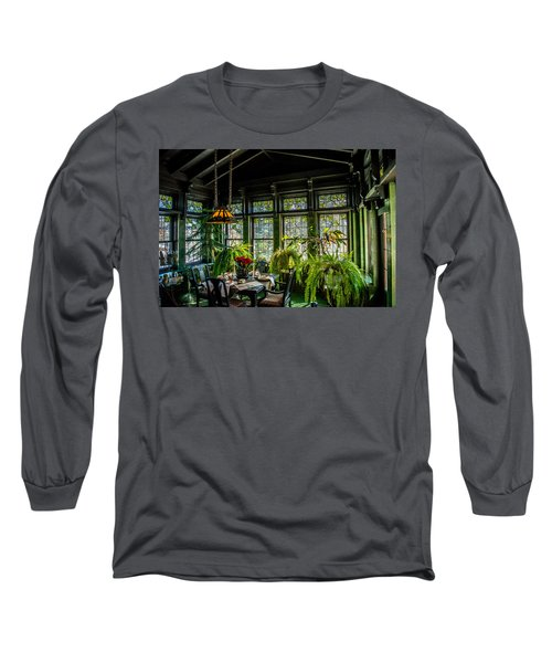 Glensheen Mansion Breakfast Room Long Sleeve T-Shirt by Paul Freidlund