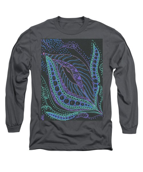 Glitter Flower Long Sleeve T-Shirt by Jan Steinle