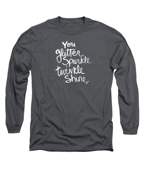 Glitter Sparkle Twinkle Long Sleeve T-Shirt