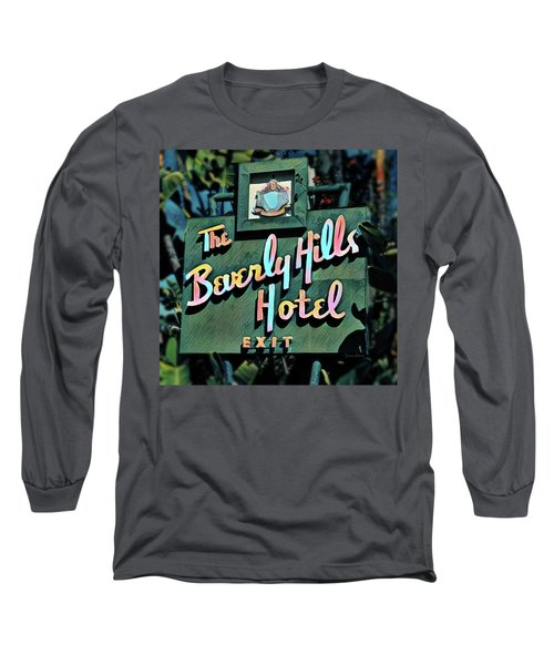 Glitzy Beverly Hills Hotel Long Sleeve T-Shirt