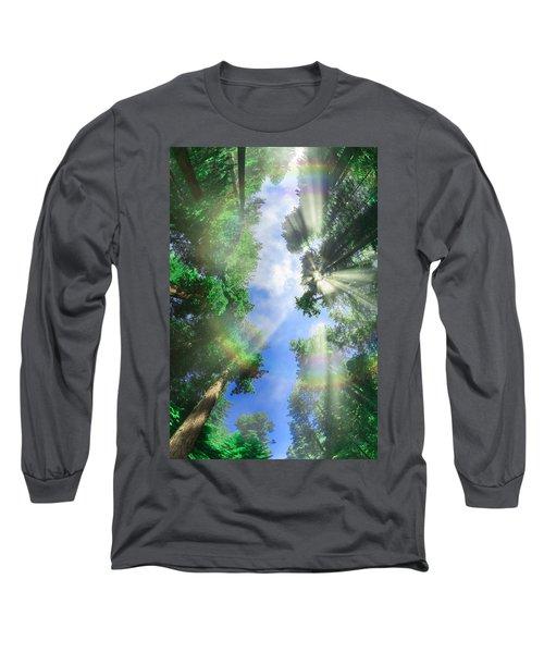 Glory Amongst Redwoods Long Sleeve T-Shirt