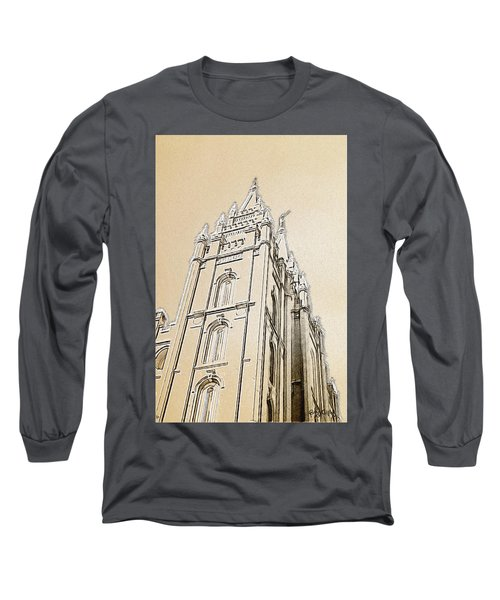 Long Sleeve T-Shirt featuring the drawing Glory And Majesty by Greg Collins
