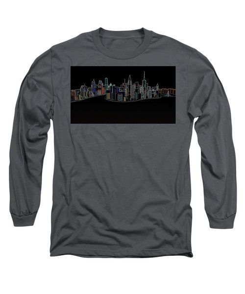 Glowing City Long Sleeve T-Shirt