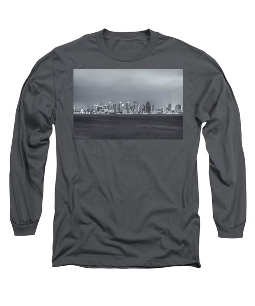 Glowing In The Night Long Sleeve T-Shirt by Joseph S Giacalone