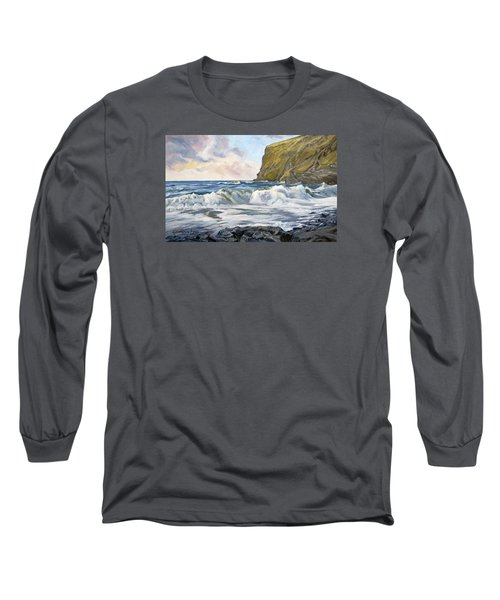 Glowing Sky At Pencannow Point Long Sleeve T-Shirt