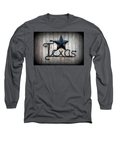 Long Sleeve T-Shirt featuring the photograph God Bless Texas by Kathy  White
