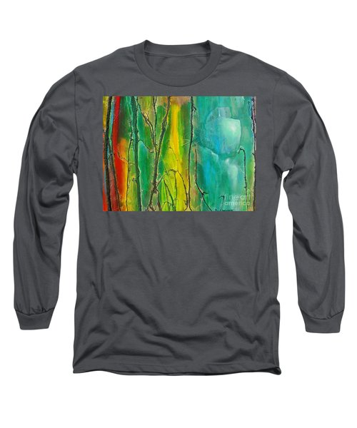 God Has Moved  Into The Neigborhood Long Sleeve T-Shirt by Dan Whittemore