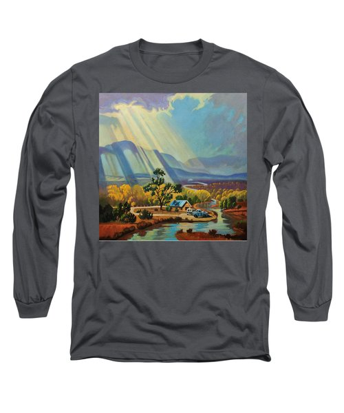God Rays On A Blue Roof Long Sleeve T-Shirt