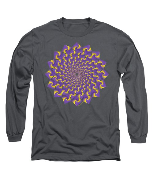 Gold And Purple Circle Of Diamonds Long Sleeve T-Shirt