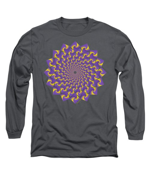 Gold And Purple Circle Of Diamonds Long Sleeve T-Shirt