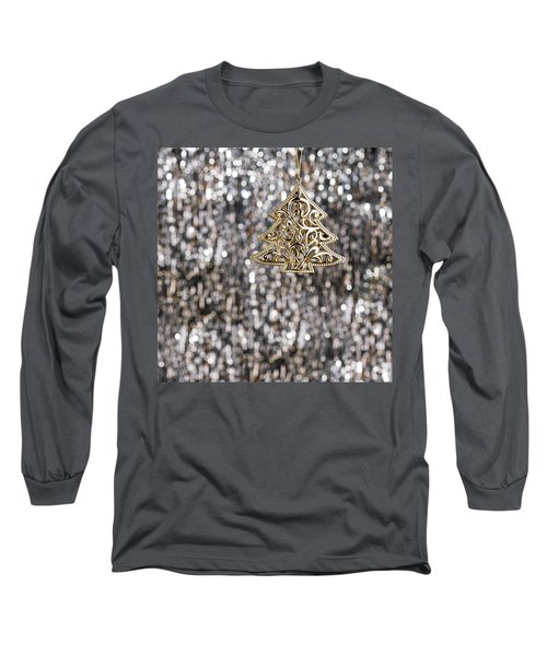 Long Sleeve T-Shirt featuring the photograph Gold Christmas Tree by Ulrich Schade