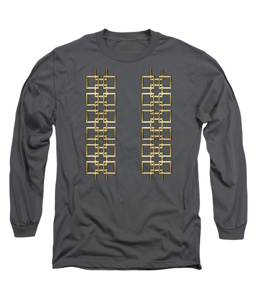 Gold Geo 5 Long Sleeve T-Shirt