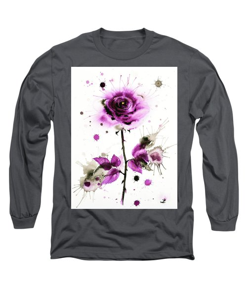 Gold Heart Of The Rose Long Sleeve T-Shirt