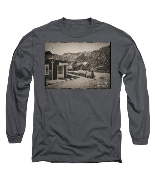 Long Sleeve T-Shirt featuring the photograph Gold Hill Station by Mitch Shindelbower