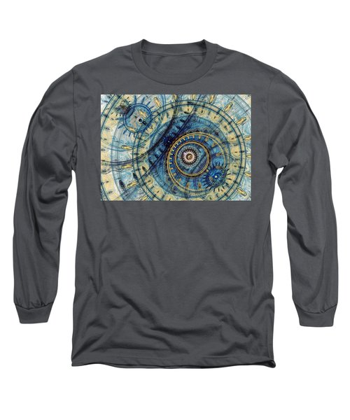 Golden And Blue Clockwork Long Sleeve T-Shirt