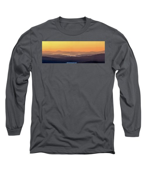 Long Sleeve T-Shirt featuring the photograph Golden Dawn Over Squam And Winnipesaukee by Sebastien Coursol