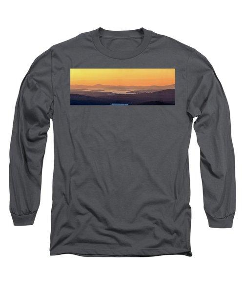 Golden Dawn Over Squam And Winnipesaukee Long Sleeve T-Shirt