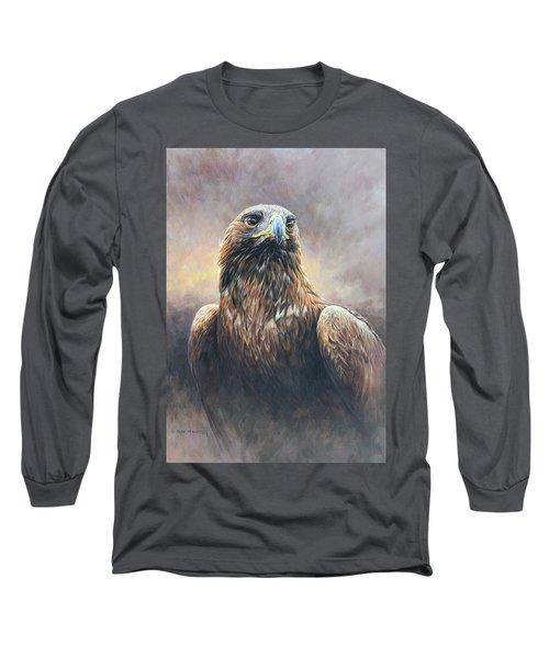 Golden Eagle Portrait Long Sleeve T-Shirt