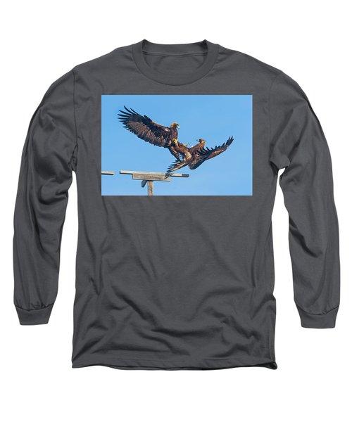 Golden Eagle Courtship Long Sleeve T-Shirt