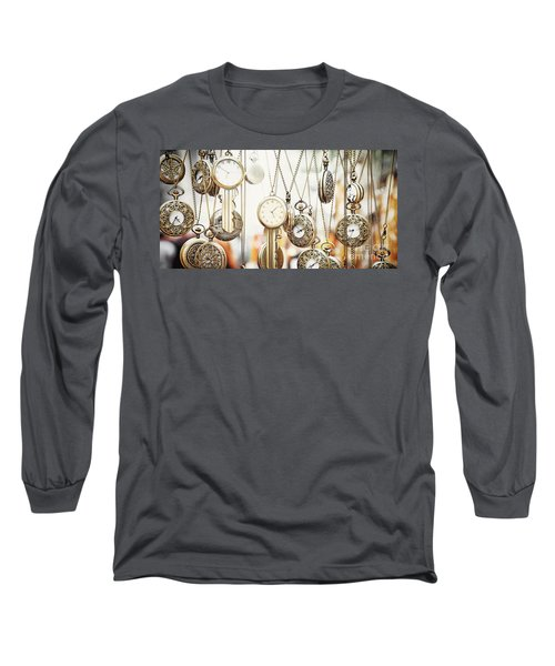 Golden Faces Of Time Long Sleeve T-Shirt