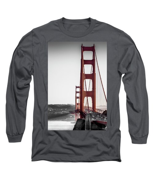 Golden Gate Black And Red Long Sleeve T-Shirt