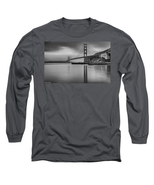 Golden Gate Black And White Long Sleeve T-Shirt