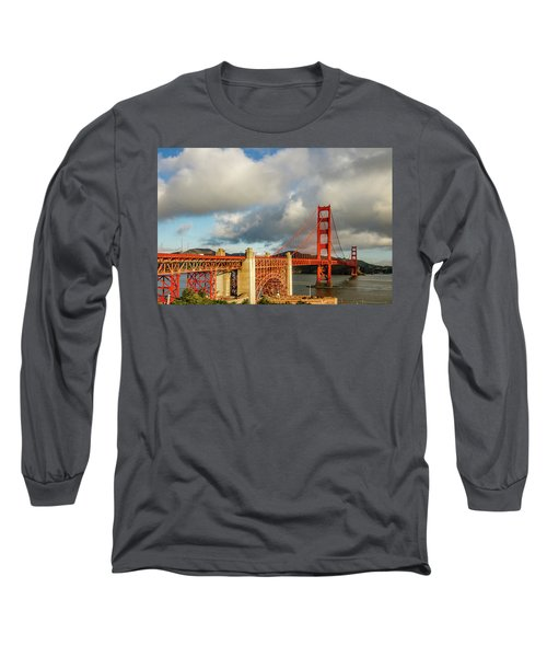 Long Sleeve T-Shirt featuring the photograph Golden Gate From Above Ft. Point by Bill Gallagher