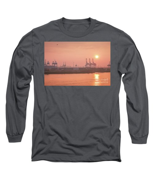 Golden Hour On The Elbe Long Sleeve T-Shirt