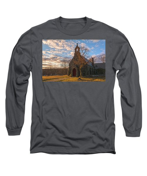 Golden Hour Prayer Service Long Sleeve T-Shirt by Angelo Marcialis