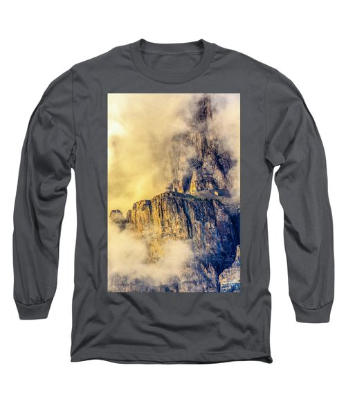 Golden Mist On Cathedral Mountain Long Sleeve T-Shirt