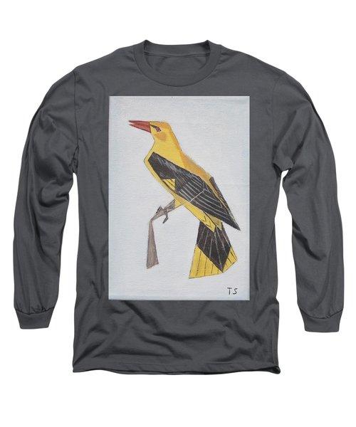 Golden Oriole Long Sleeve T-Shirt by Tamara Savchenko