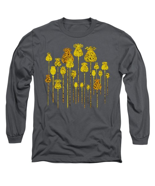 Golden Poppy Heads Long Sleeve T-Shirt