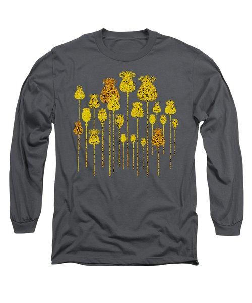 Golden Poppy Heads Long Sleeve T-Shirt