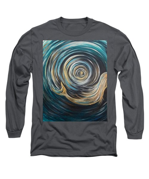 Golden Sirena Mermaid Spiral Long Sleeve T-Shirt