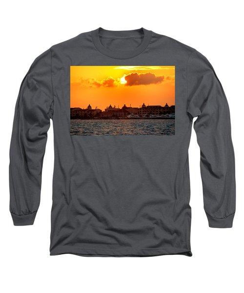 Golden Sky In Cancun Long Sleeve T-Shirt