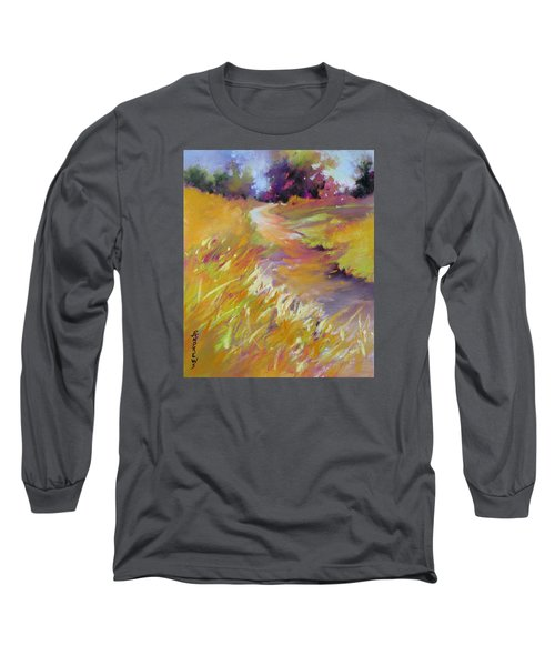 Long Sleeve T-Shirt featuring the painting Golden Splendor by Rae Andrews